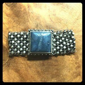 Lucky Brand Stone and Mesh Bracelet